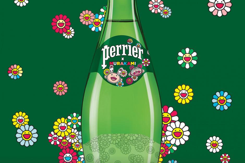Limitowana edycja Perrier z rysunkami Murakamiego