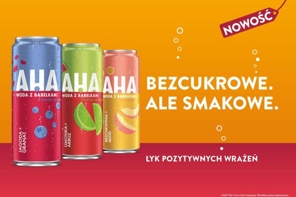 Coca-Cola wprowadza na polski rynek nową markę napojów - AHA