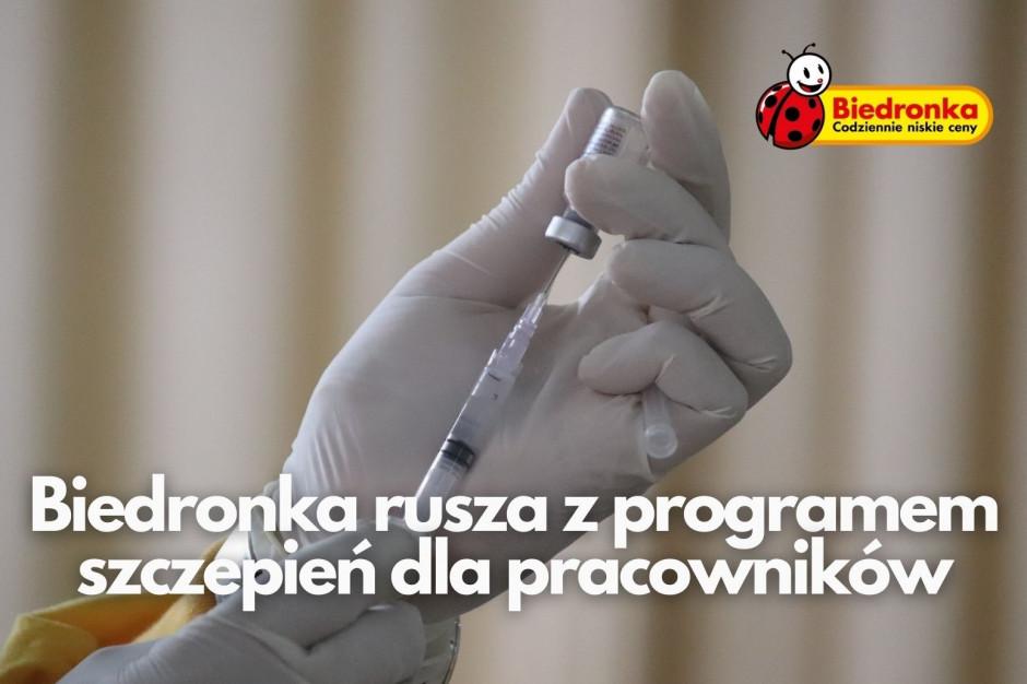 Biedronka uruchomiła program szczepień dla pracowników