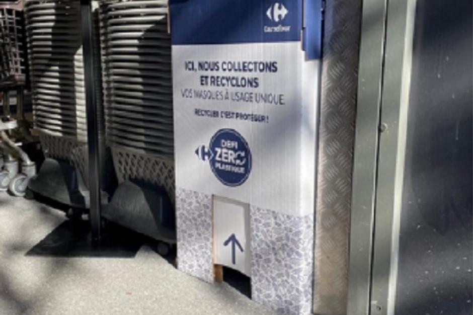 Carrefour zbiera jednorazowe maseczki, by poddać je recyklingowi