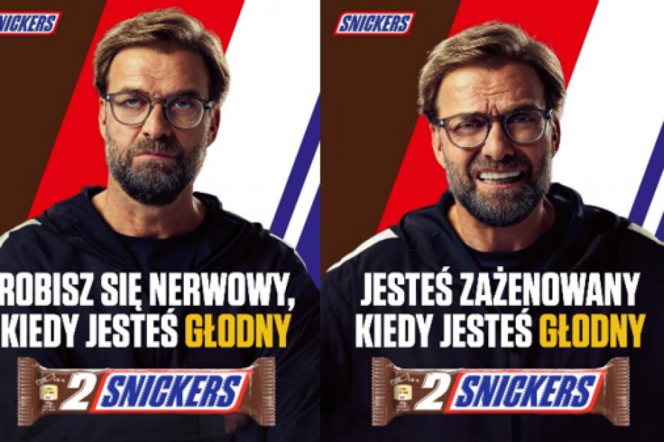 Jürgen Klopp w piłkarskiej kampanii marki Snickers