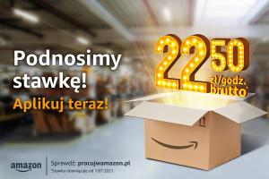 Amazon podnosi wynagrodzenia - dla początkujących 22,5 zł/godz. brutto