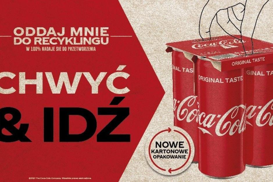 KeelClip zamiast folii w wielopakach puszek Coca-Cola
