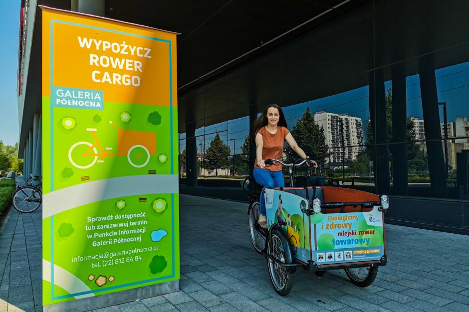 Galeria Północna wypożycza klientom rowery cargo