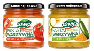 Pasty warzywne marki Łowicz