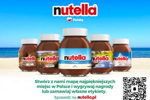Nutella z etykietami z polskimi krajobrazami