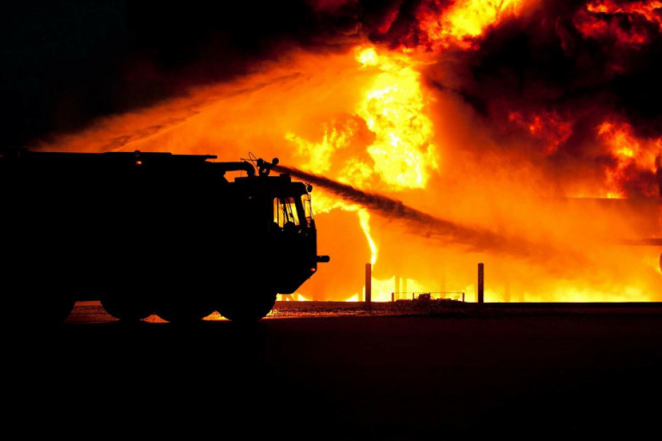 Podpalił market by obserwować akcję gaśniczą