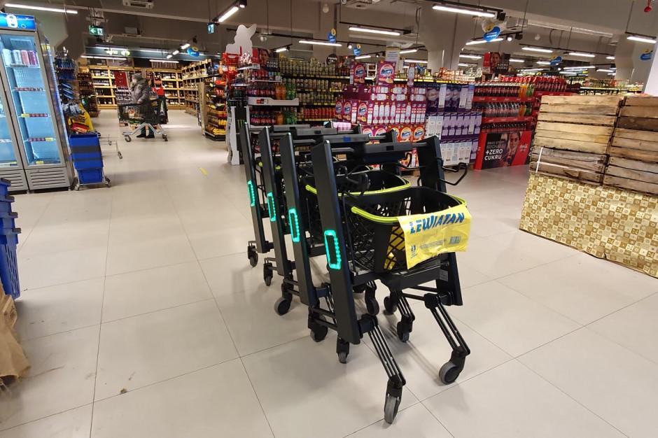 Inteligentne wózki w sklepie PSH Lewiatan w Łodzi
