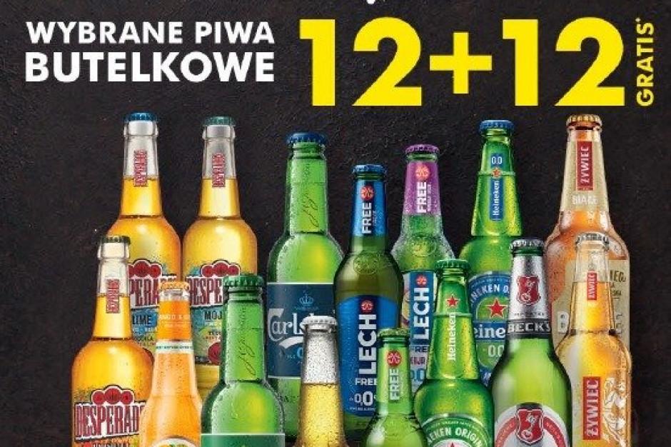 Promocja 12 piw gratis w Biedronce