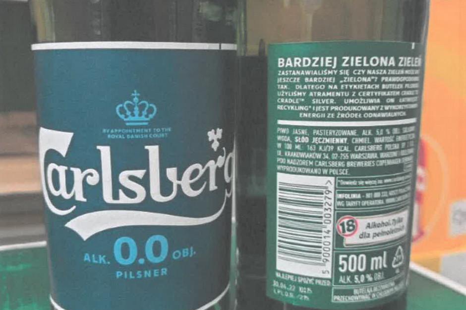 GIS: piwo Carlsberg z alkoholem z etykietą 0 proc. wycofane