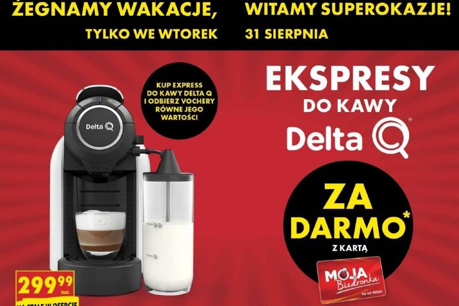 Oferta Biedronki: Ekspres do kawy z voucherem na 299 zł