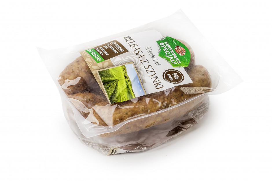 Kiełbasa z szynki Kurpiowskie Specjały bez glutenu i glutaminianu sodu