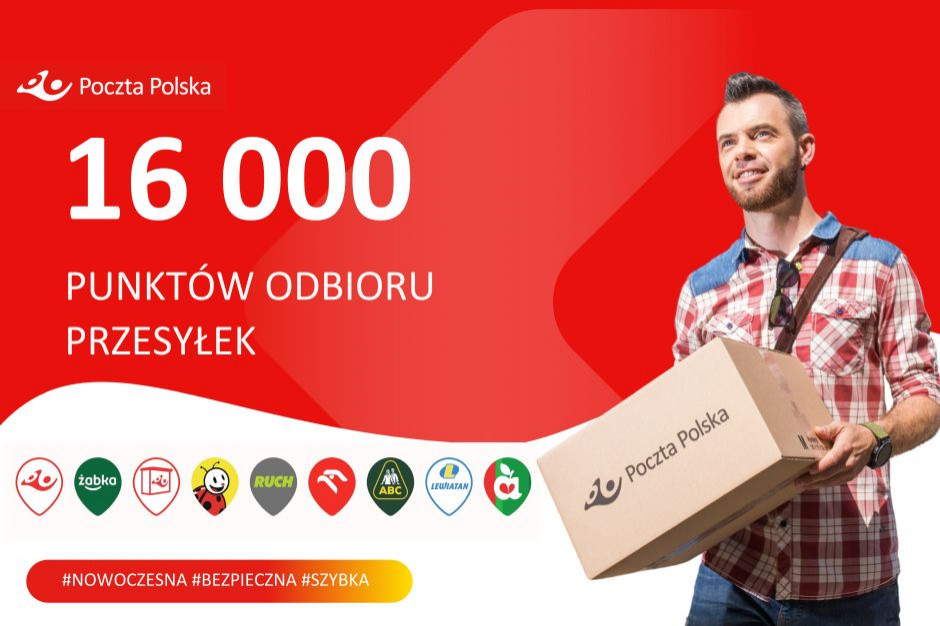 Poczta Polska do końca 2022 roku chce mieć 20 tys. punktów odbioru przesyłek