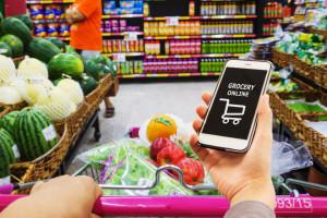 Polacy wydają średnio 230,77 zł na artykuły spożywcze online miesięcznie, fot. Shutterstock