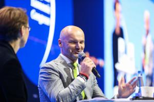 Rafał Brzoska podczas Europejskiego Kongresu Gospodarczego w Katowicach, fot. PTWP