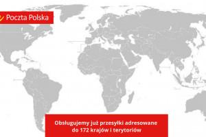 Poczta Polska obsługuje już przesyłki adresowane do ponad 172 krajów i terytoriów. Fot. materiały prasowe